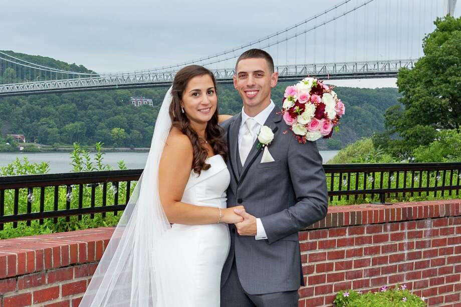 Laura Jean Cutolo married Brendan James Harriott on Aug. 16. Photo: Contributed Photo