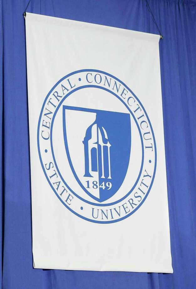 A file photo of a Central Connecticut State University flag. Photo: Contributed Photo / Associated Press / Associated Press