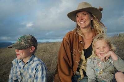 Doniga Markegard and her family practice regenerative grazing on her ranch in Half Moon Bay. (Photo courtesy of  Big Picture Ranch.)