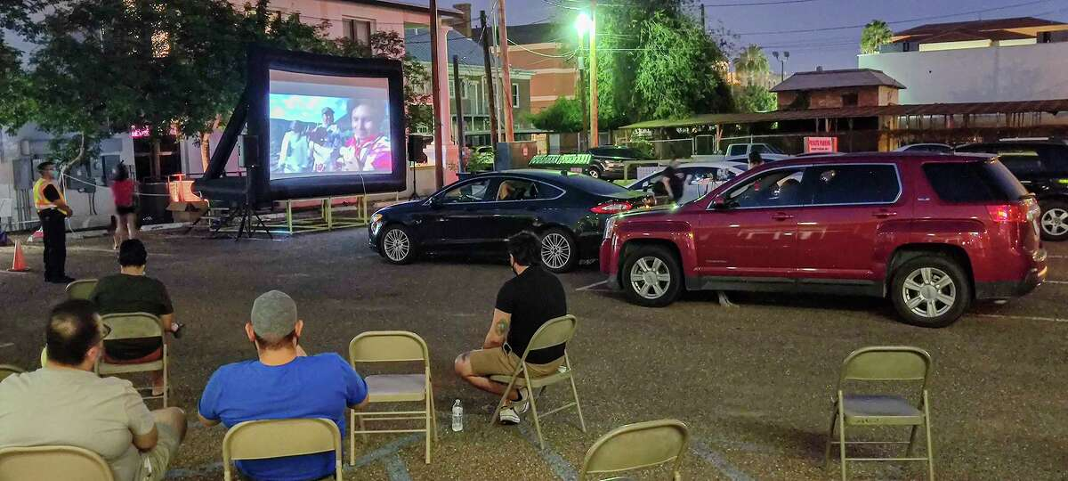 Cultura Beer Garden hosted a drive-in style showing of