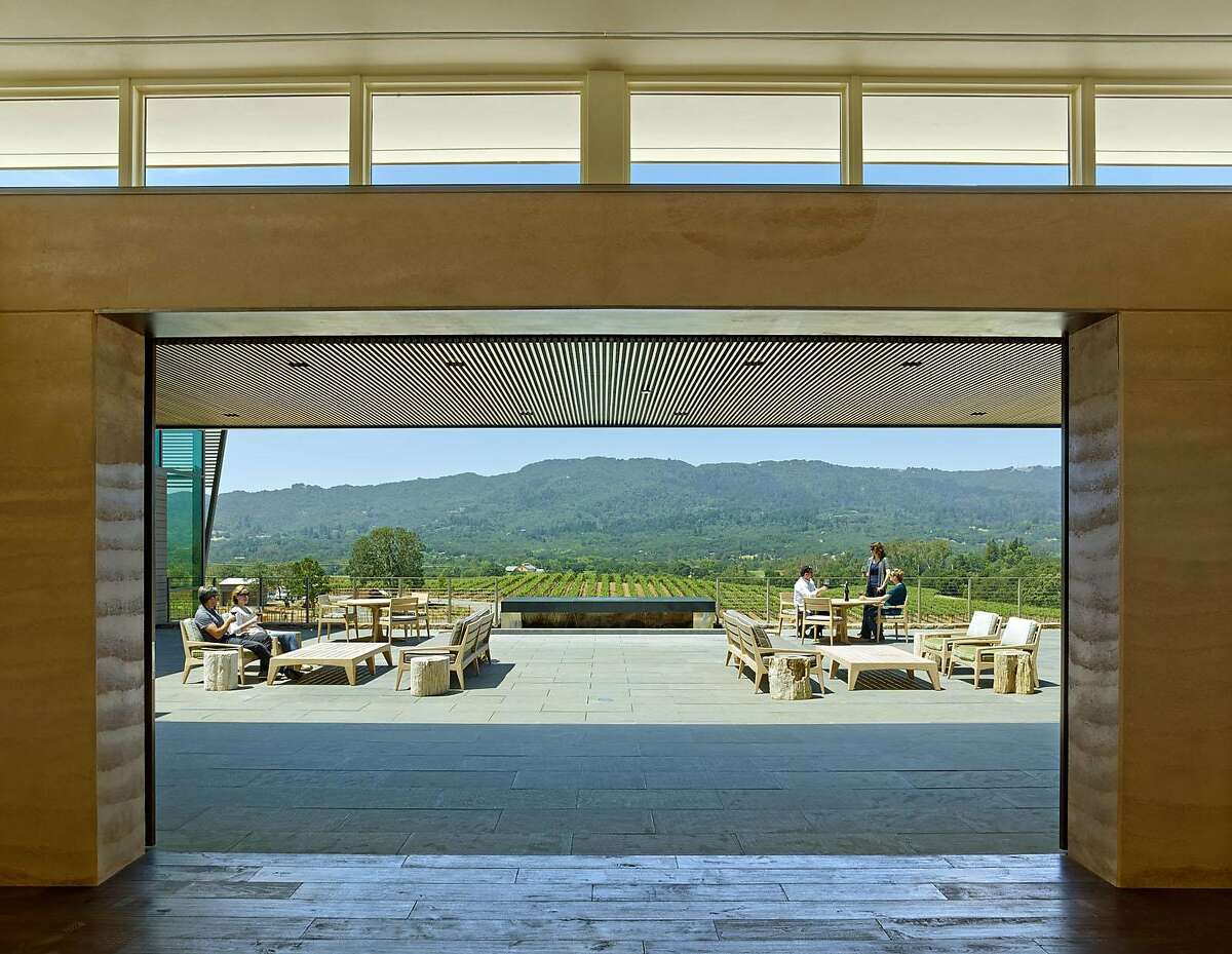 View of the Sonoma Valley from the patio at Hamel Family Wines.