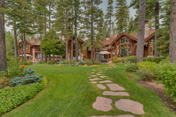 This lakefront property on Lake Tahoe is for sale.