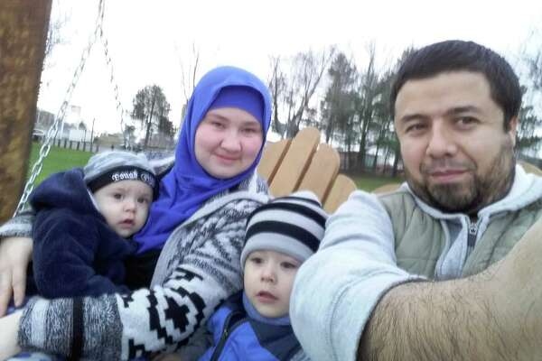 Bakhodir Madjitov (right) is seen here with his wife Madina Mamadjonova and two of their sons in 2015. Madjitov was detained by U.S. Immigration and Customs Enforcement in 2017 and is facing deportation, according to his lawyer.