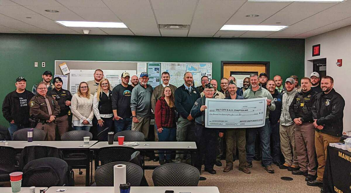The Manistee County Sheriff's Office raised over $6,000 during No Shave November efforts last year to support local veterans. (File photo)