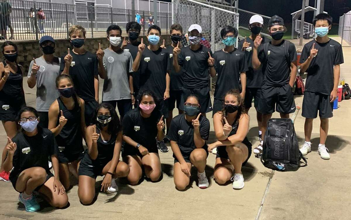 The Jordan tennis team won the first varsity match in school history Sept. 15 in Bryan, defeating Rudder 18-1 to begin District 19-5A play.