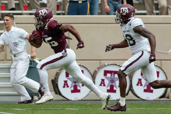 Aaron Hansford started his career as a receiver for A&M but is now at linebacker and has a chance to play more after Anthony Hines opted out.