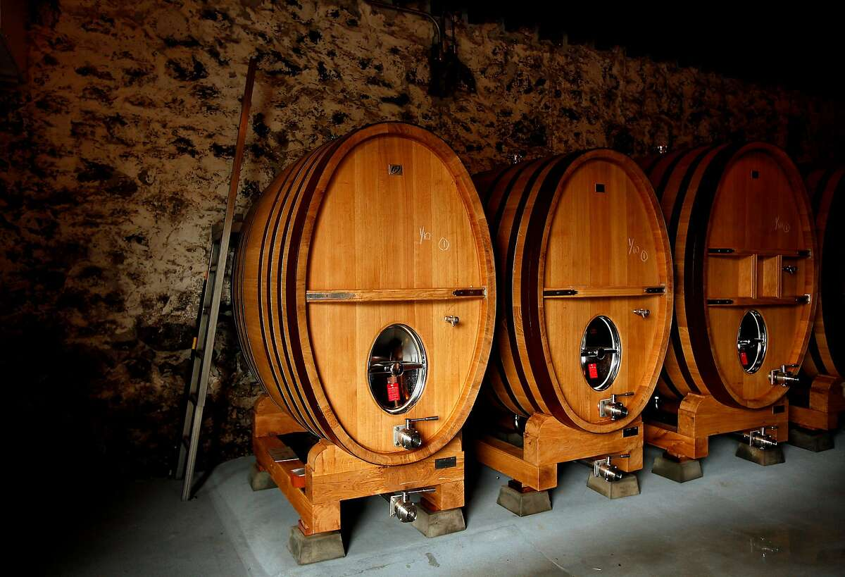 French oak tanks at Heitz Cellar in St. Helena, Calif., on Tuesday, March 4, 2014.