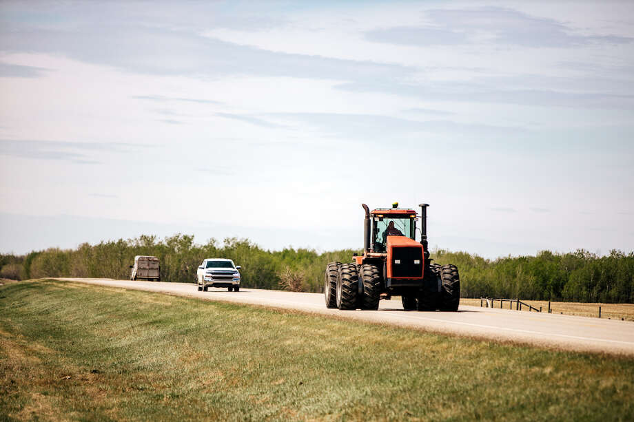 As harvest season begins, drivers are likely to encounter more farming implements on the road. Photo: Davin Gegolick / 2019 Davin G Photography