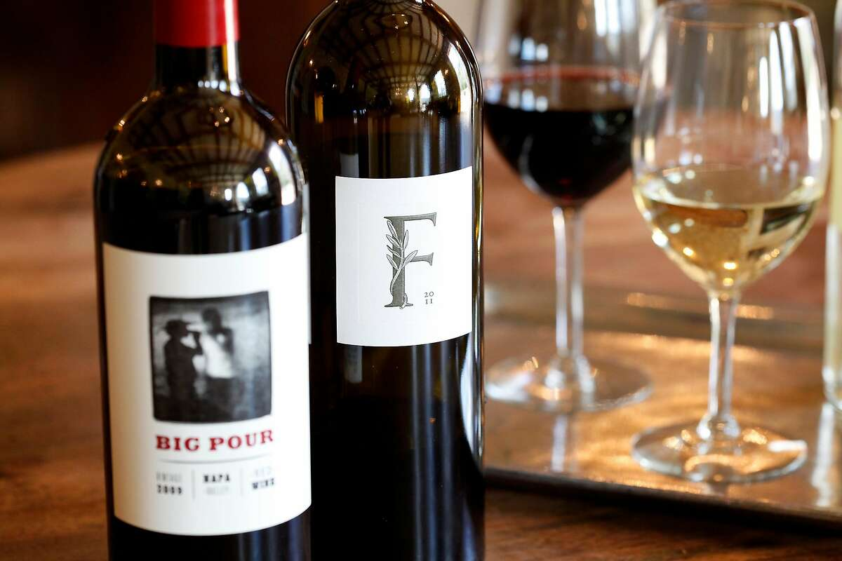 The 2011 Kelly Fleming Estate cabernet sauvignon and the 2009 Big Pour Napa red at Kelly Fleming Wines in Calistoga, Calif., on Saturday, March 1, 2014.