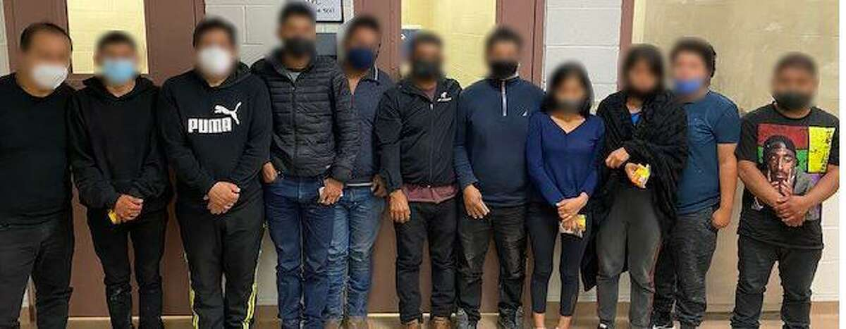 U.S. Border Patrol agents said they found this group of people inside a refrigerated trailer. Authorities said all were determined to be illegally present in the country.