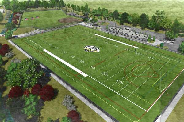 An artist's rendering shows the plans for athletic facilities at Greenwich Country Day School.