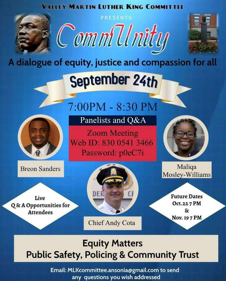 """The Valley MLK Committee's """"Unity in the Community"""" series will holdhost its second, virtual forum at 7 p.m. Sept. 24with an interactive panel of Valley leaders. Photo: Contributed"""