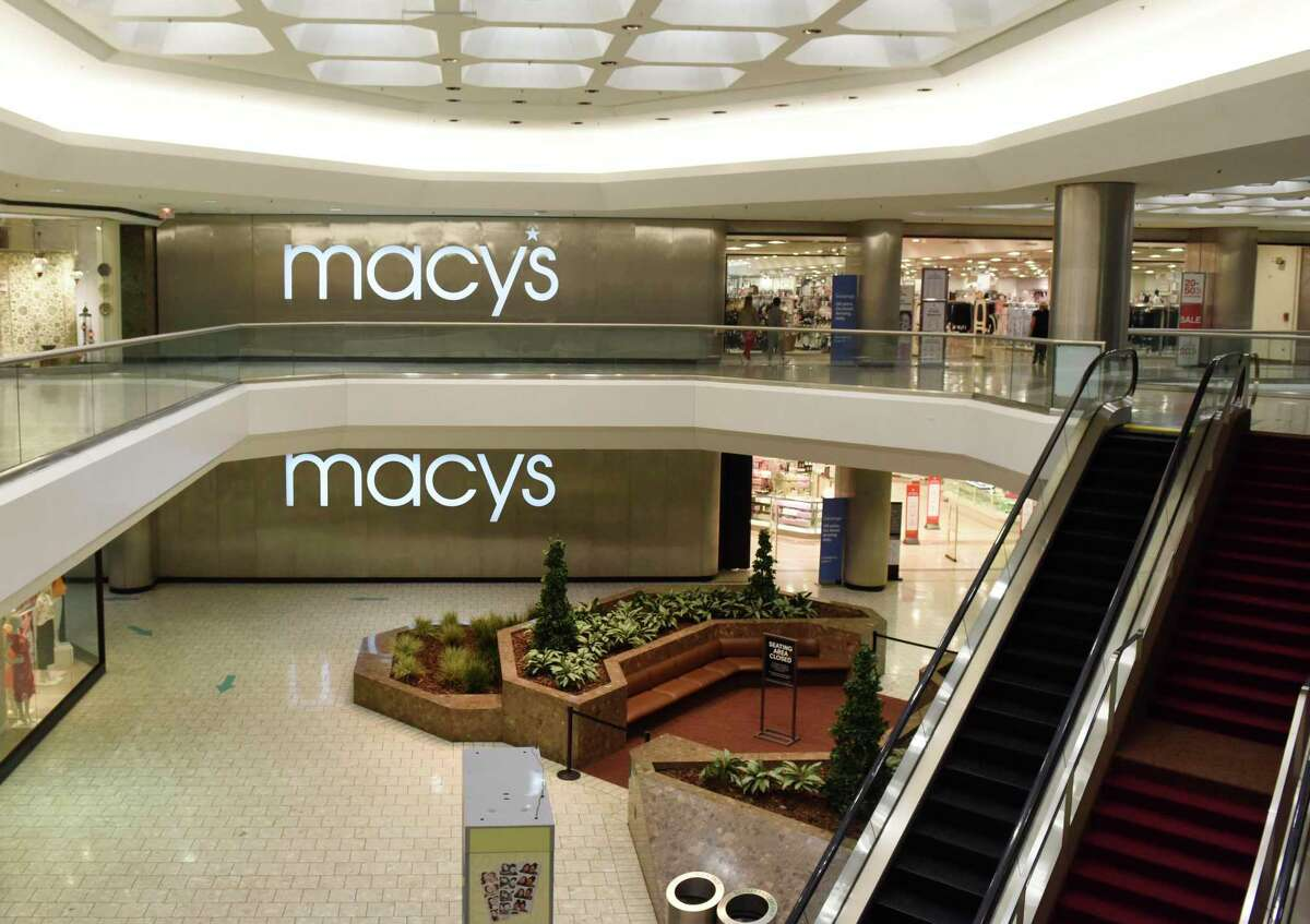 Macy's at the Stamford Town Center in Stamford, Conn., photographed on Tuesday, June 2, 2020. In February, Macy's stores will close at the Brass Mill Center in Waterbury, owned by Brookfield Properties, and the Crystal Mall in Waterford, owned by Simon Property Group. After these closures, the state will be left with the following six Macy's locations.