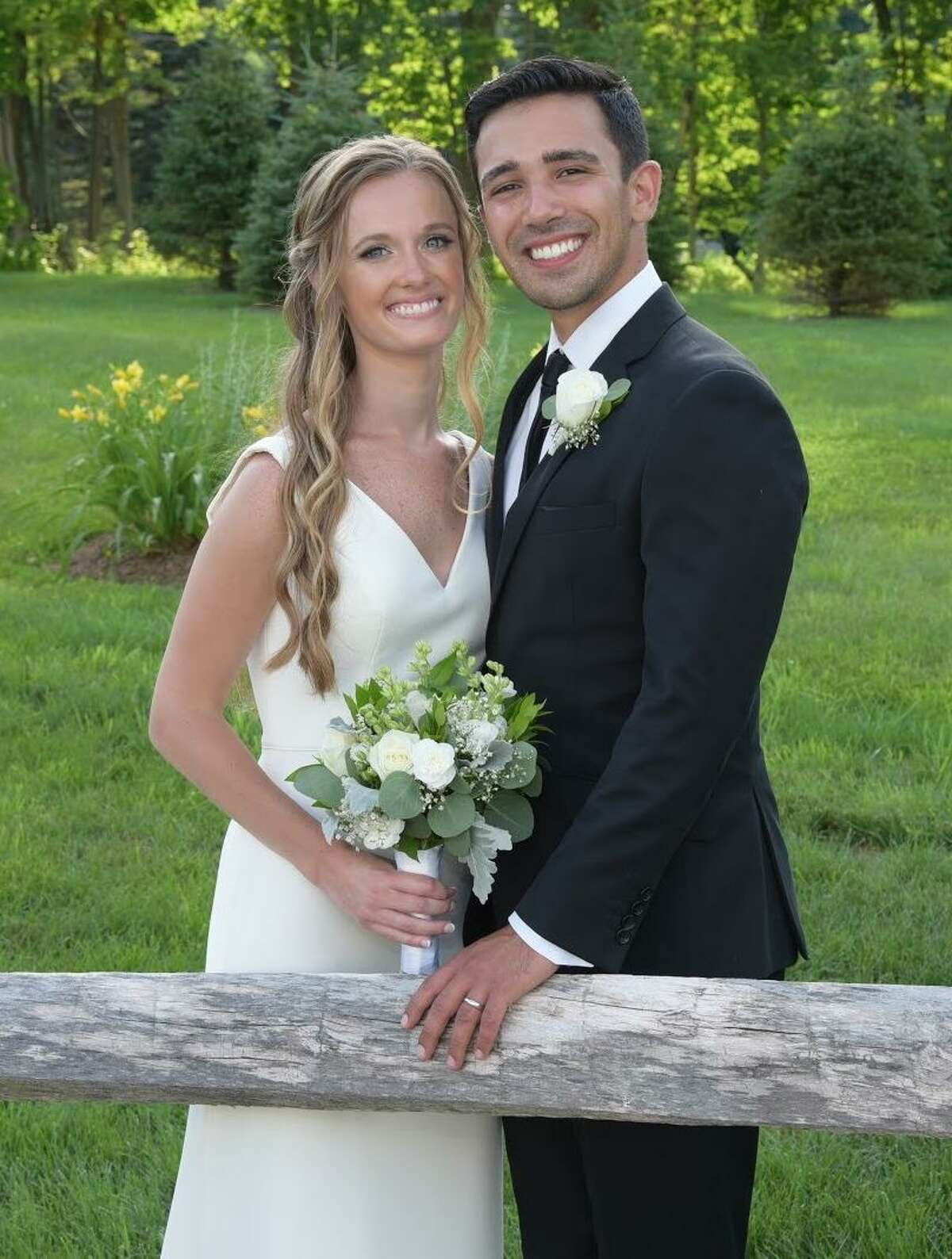 Allie Blum and John Laychak got married on July 5, 2020 in the Berkshires.