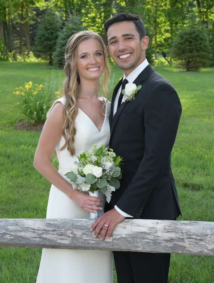 Allie Blum and John Laychak got married on July 5, 2020 in the Berkshires. Photo: Contributed