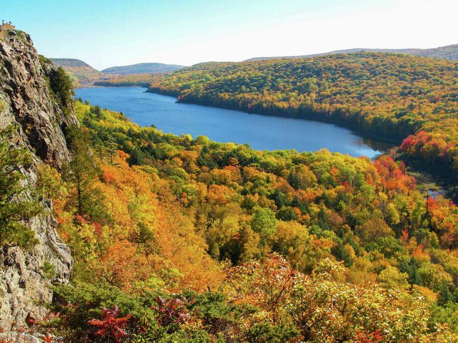 Lake of the Clouds at Porcupine Mountains Wilderness Park in Ontonagon County is the park's signature attraction. (Courtesy photo/Michigan Department of Natural Resources)