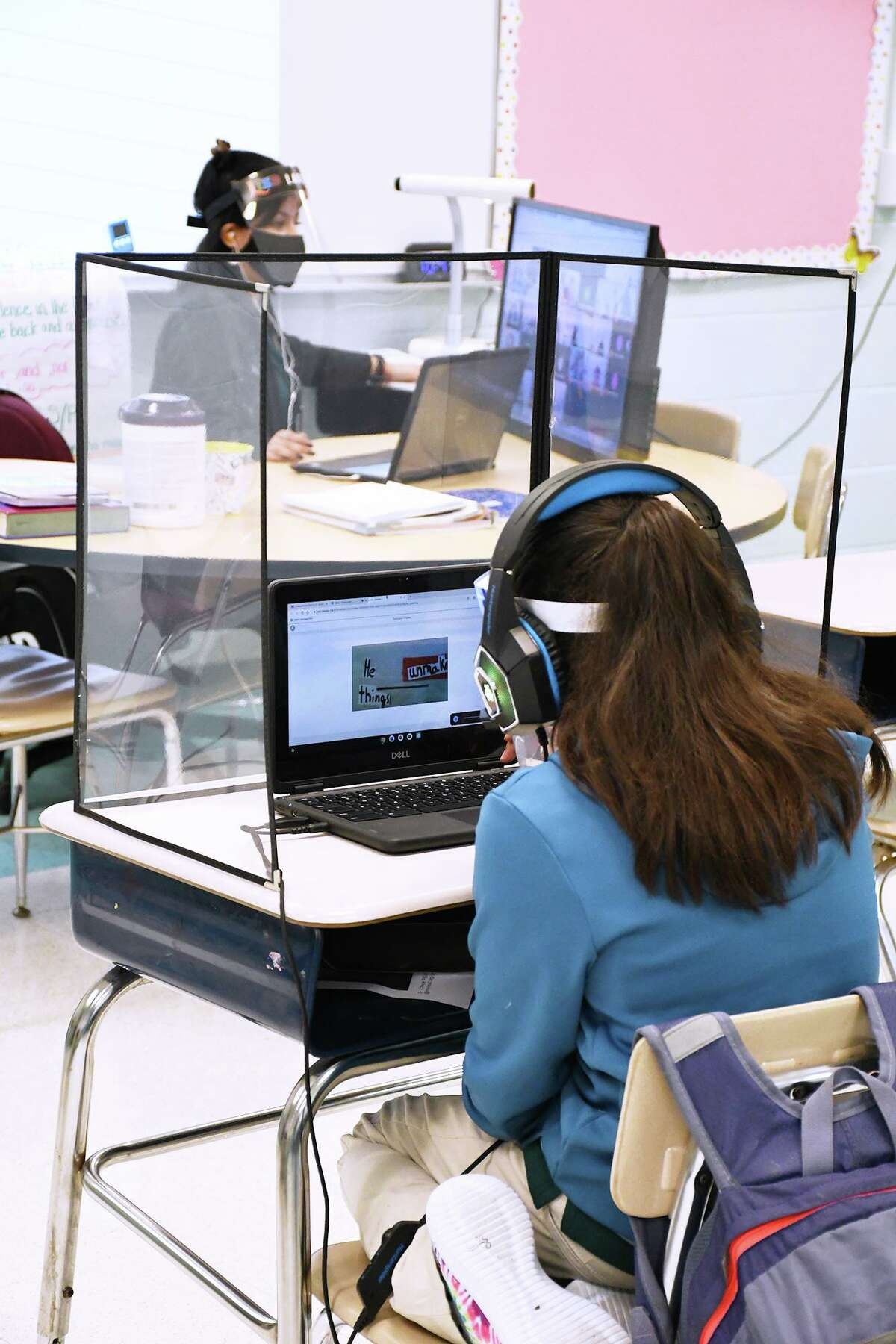 Laredo ISD students in third, fourth, fifth, sixth, and ninth grades, and all Special Education Self-Contained were allowed to participate in in-person classroom learning Monday, September 21, 2020.