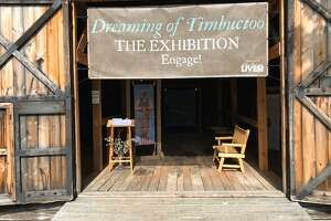 """Dreaming of Timbuctoo"" is a permanent exhibit at the John Brown Farm state historic site in North Elba, N.Y. that tells the story of a 19th-century Black settlement created through land grants by abolitionist Gerrit Smith. (Paul Grondahl / Times Union)"