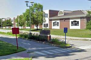 A Google Streetview screenshot of Colchester Elementary School in Colchester, Conn.