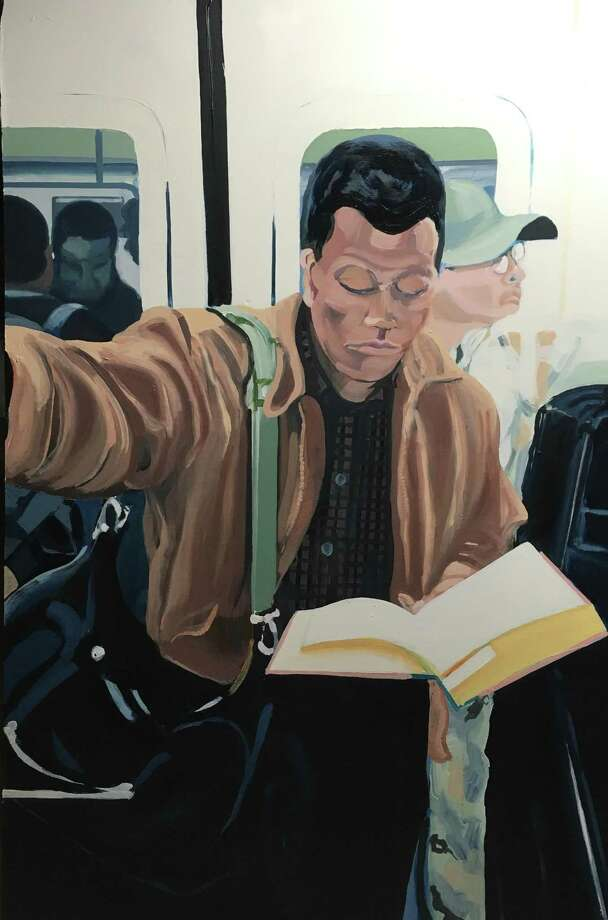 "The ""Black Men Reading"" series by artist Larry Morse depicts Black men reading on subways and elsewhere. The series is on display at the Easton Public Library as part of the ""Diverse Perspectives"" exhibit. Photo: Larry Morse / Contributed Photo"