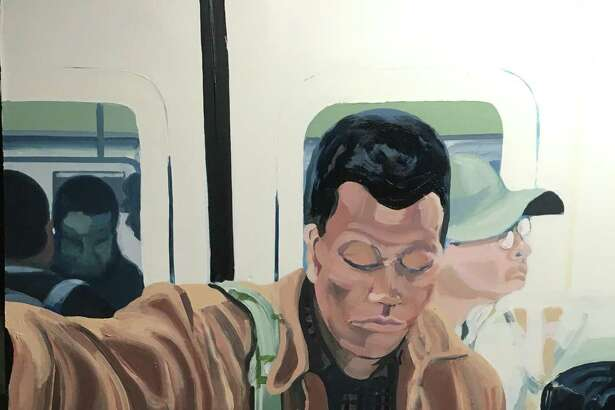"The ""Black Men Reading"" series by artist Larry Morse depicts Black men reading on subways and elsewhere. The series is on display at the Easton Public Library as part of the ""Diverse Perspectives"" exhibit."