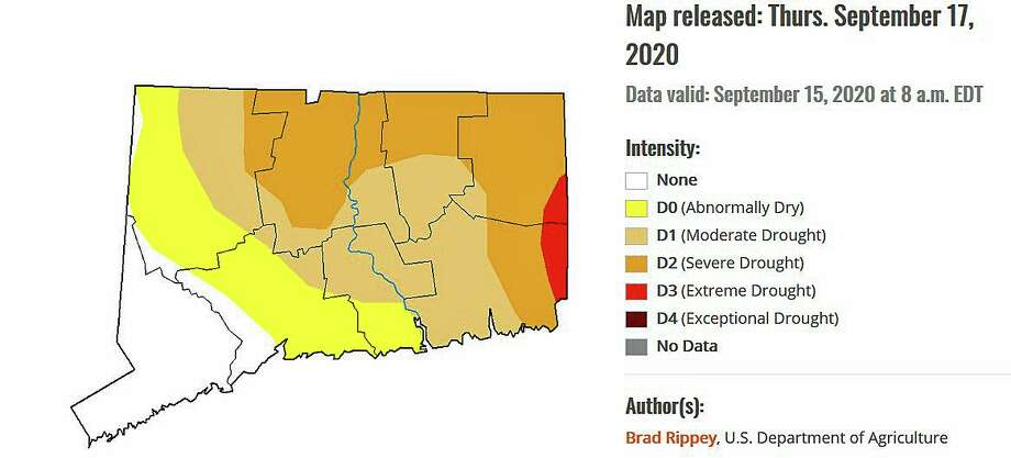 On Tuesday, Sept. 22, 2020, the Bristol Water and Sewer Department announced that the city's reservoirs have declined to below 60 percent capacity from the lack of rain. The city is now requiring all customers to limit the amount of outside water use and requiring the public to adhere to the department's policy on odd/even watering days. Photo: U.S. Drought Monitor