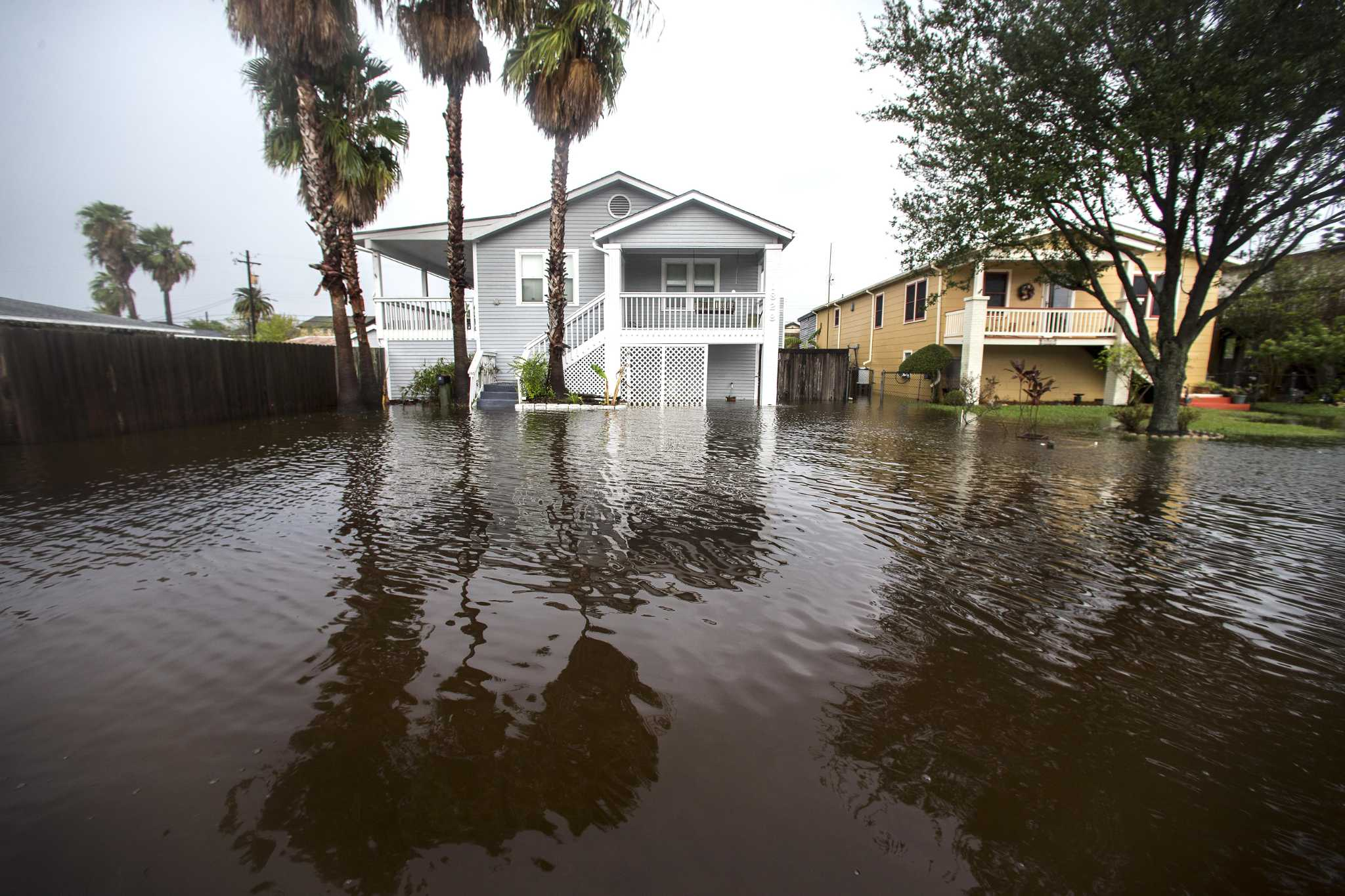 Galveston fights tidal flooding but spared Beta's heavier rains