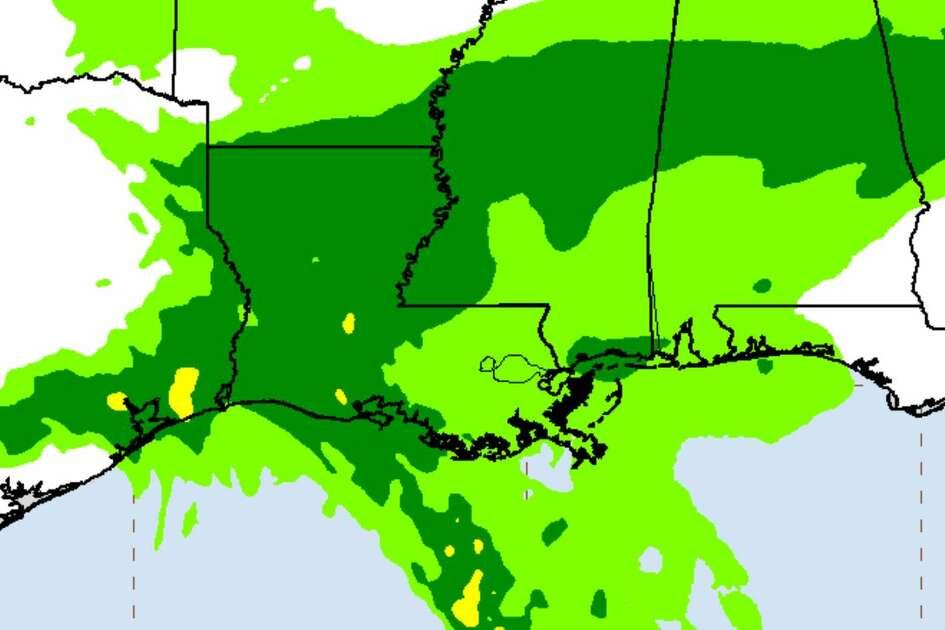 U.S. rainfall potential from TS Beta