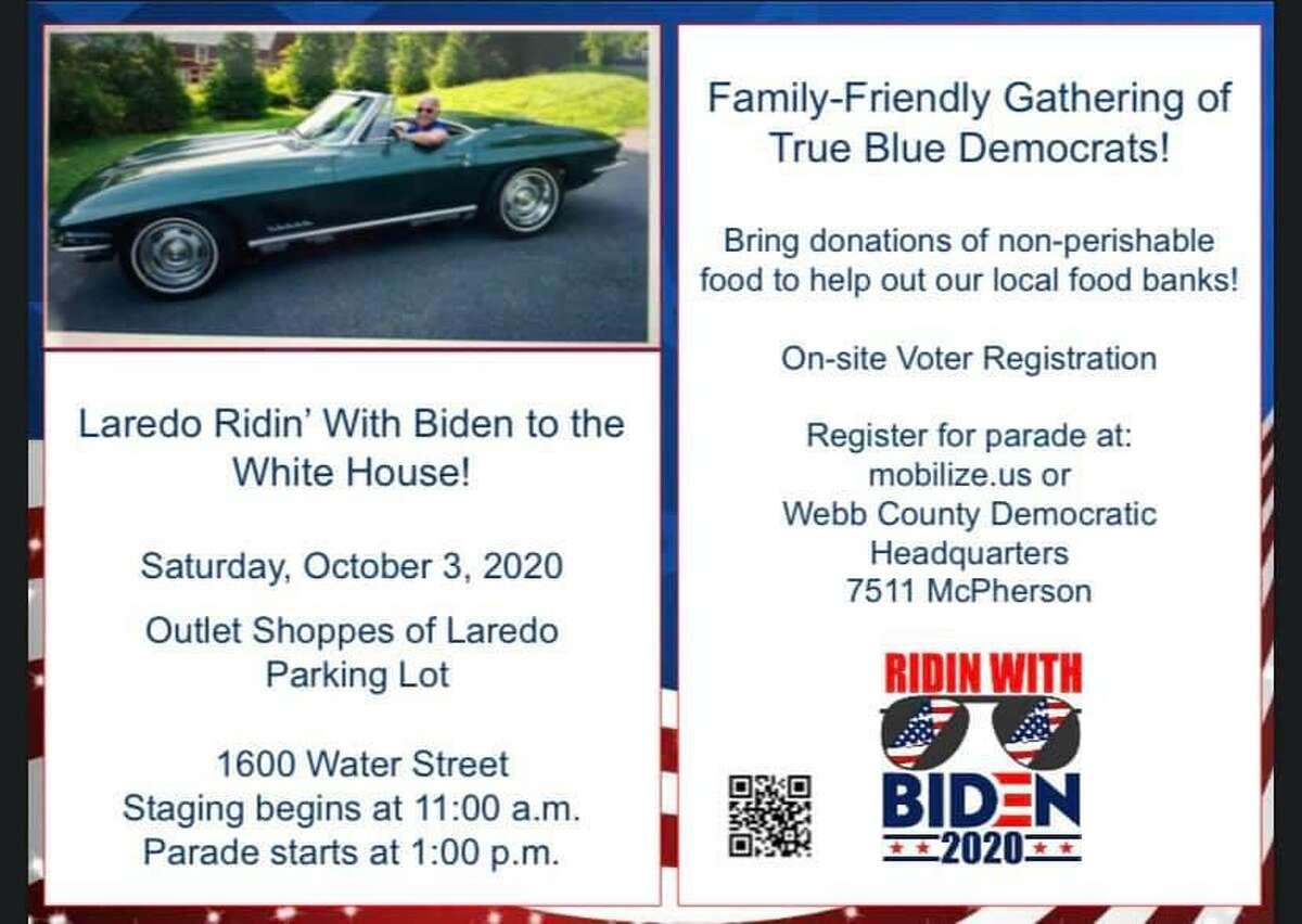 "The ""Laredo Ridin' with Bidin Parade"" will begin at 1 p.m. on Oct. 3."
