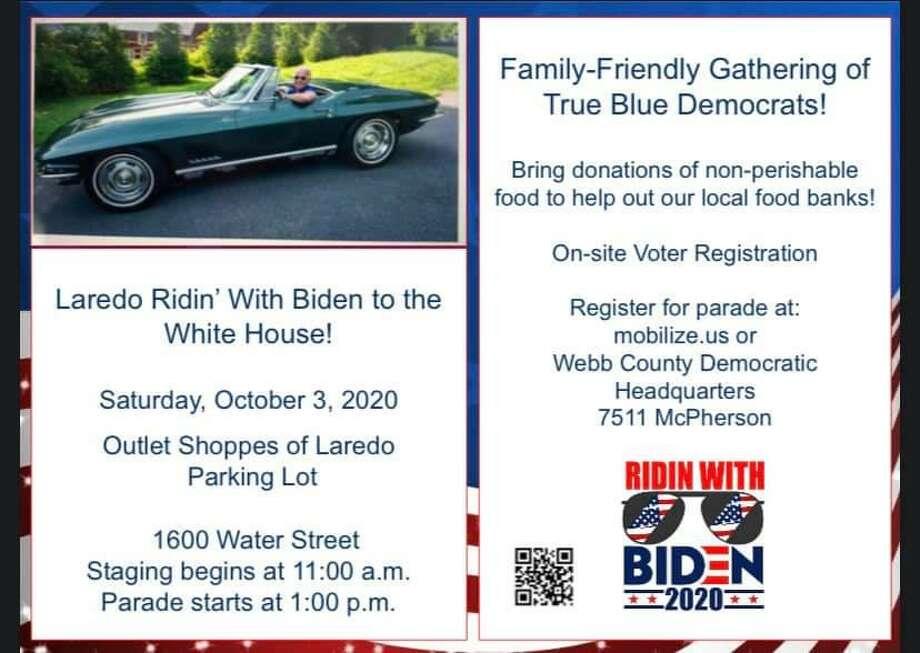 """The """"Laredo Ridin' with Bidin Parade"""" will begin at 1 p.m. on Oct. 3. Photo: Courtesy Photo"""