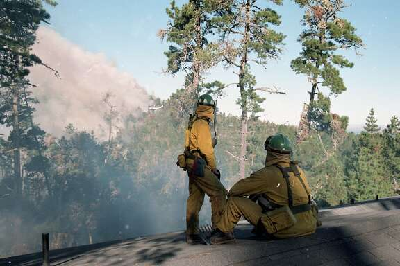 Drakes View Drive area during the Mount Vision Fire in near Inverness in Point Reyes, October 4, 1995,