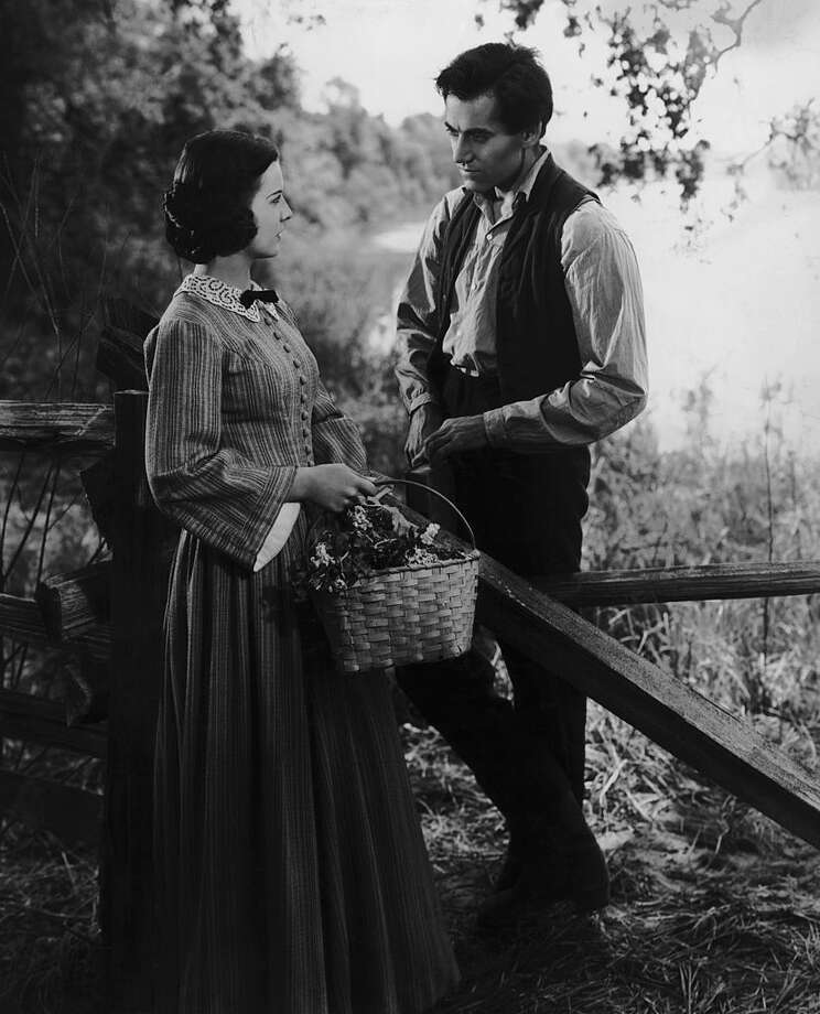 """Henry Fonda plays Abraham Lincoln in the film """"Young Mr. Lincoln,"""" with Pauline Moore as Ann Rutledge, allegedly Lincoln's first love. Photo: Popperfoto / 2008 Getty Images"""