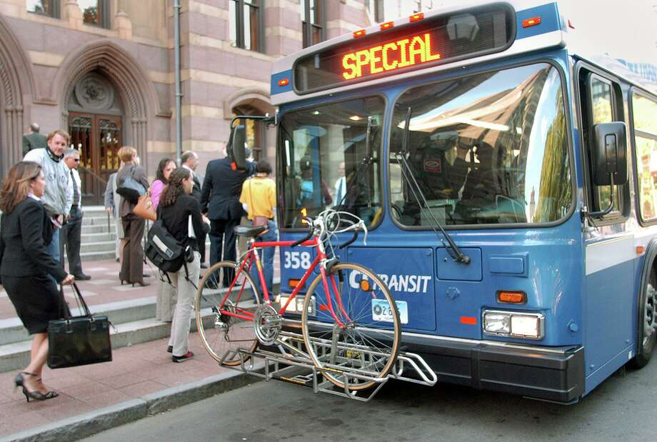 The Connecticut Department of Transportation plans to resume the use of front-door boarding and fareboxes on CTtransit buses on Oct. 5, 2020. Photo: File Photo