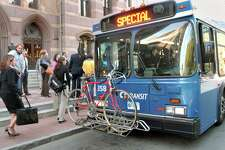 The Connecticut Department of Transportation plans to resume the use of front-door boarding and fareboxes on CTtransit buses on Oct. 5, 2020.
