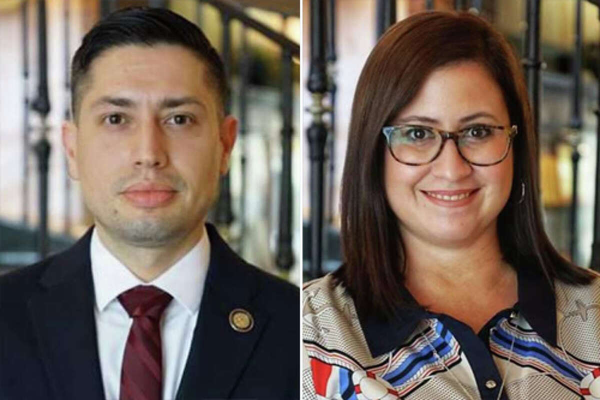 Richard Chamberlain (left) will serve as health director and Noraida Negron (right) will serve as communication administrator for the City of Laredo.