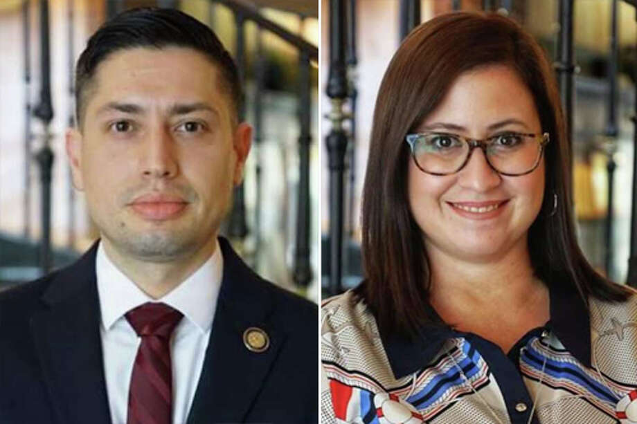 Richard Chamberlain (left) will serve as health director and Noraida Negron (right) will serve as communication administrator for the City of Laredo. Photo: Courtesy