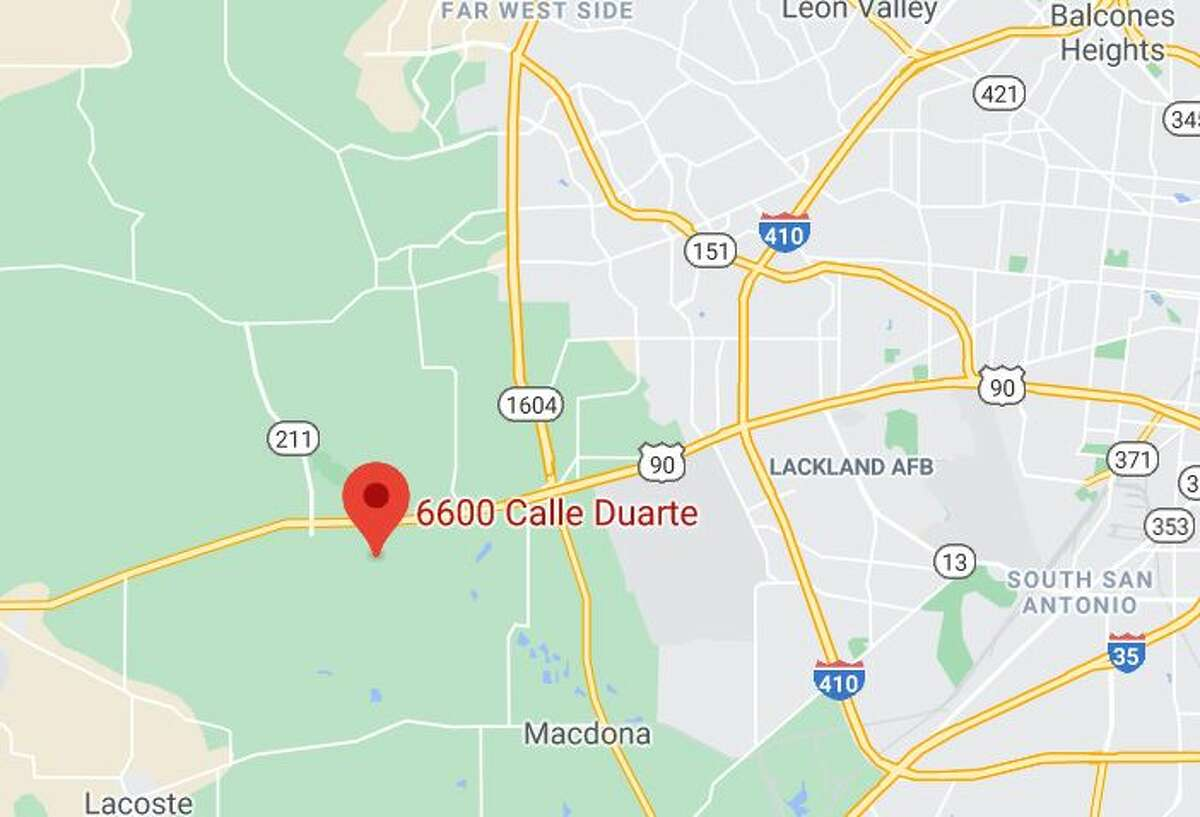 6600 Calle Duarte in western Bexar County
