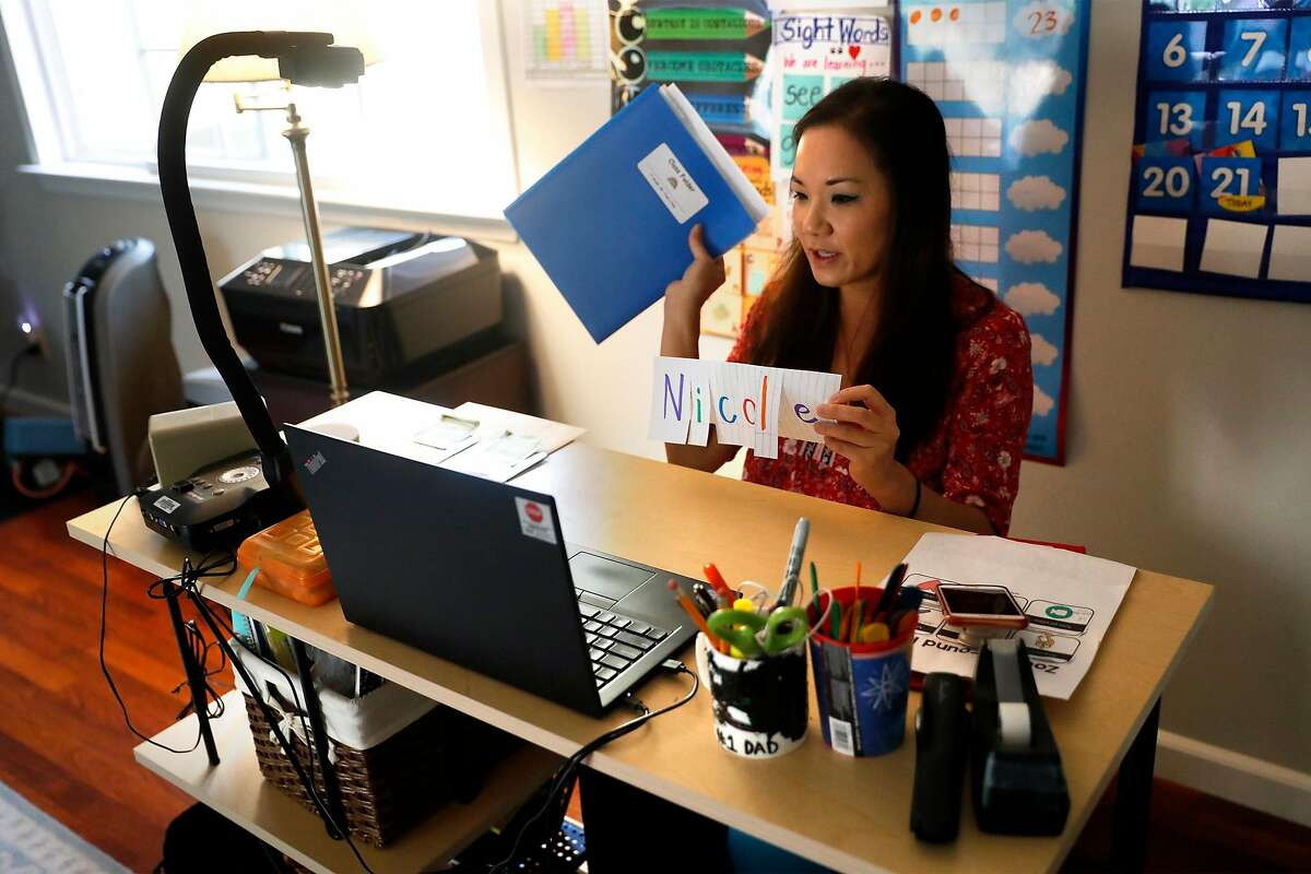 Nicole Tran has taught at Dover Elementary school in San Pablo for 15 years. This year she's teaching