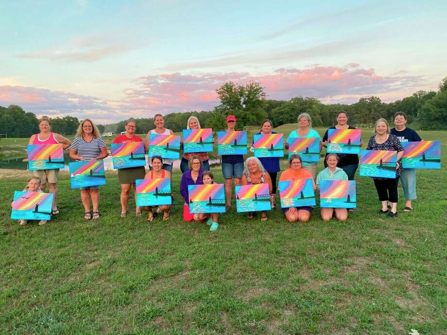 Snay hosted a socially-distanced outdoor painting party at the Whiskey Creek Campground. (Contributed by Joann Snay)
