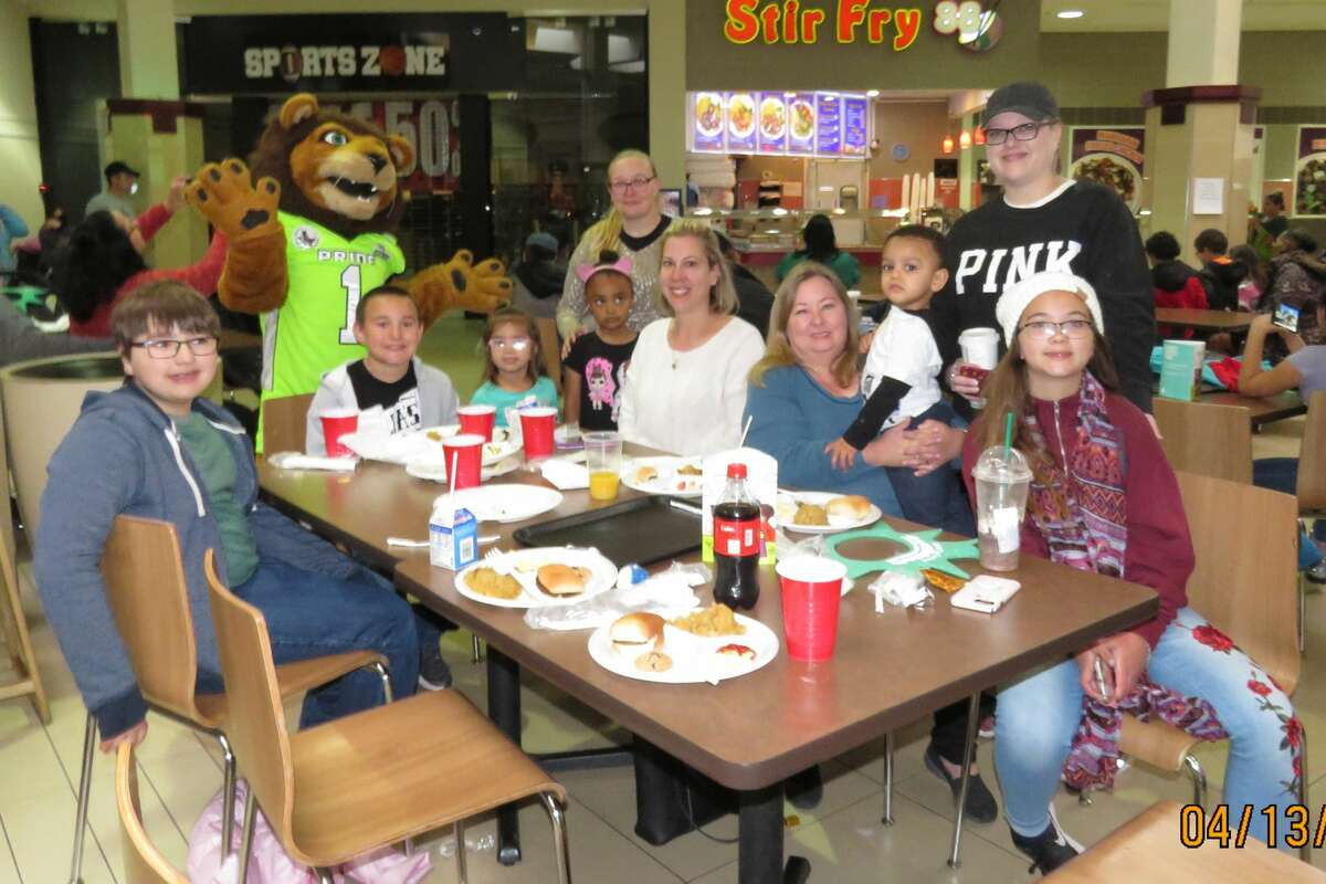 """Families enjoy last year's Bunny Breakfast hosted by Midland Northside Lions Club. Bunny Breakfast was canceled because of coronavirus, but the club will be hosting """"We Serve"""" Breakfast on Oct. 3."""