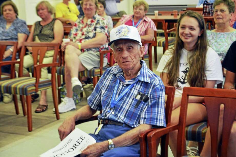 The Middletown Senior Center in July 2016 to congratulated WWII veteran and longtime volunteer Frank Greco on his 92nd birthday. Photo: Hearst Connecticut Media File Photo