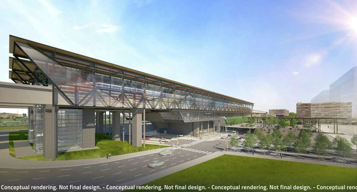 Texas Central renderings of high speed rail stations.