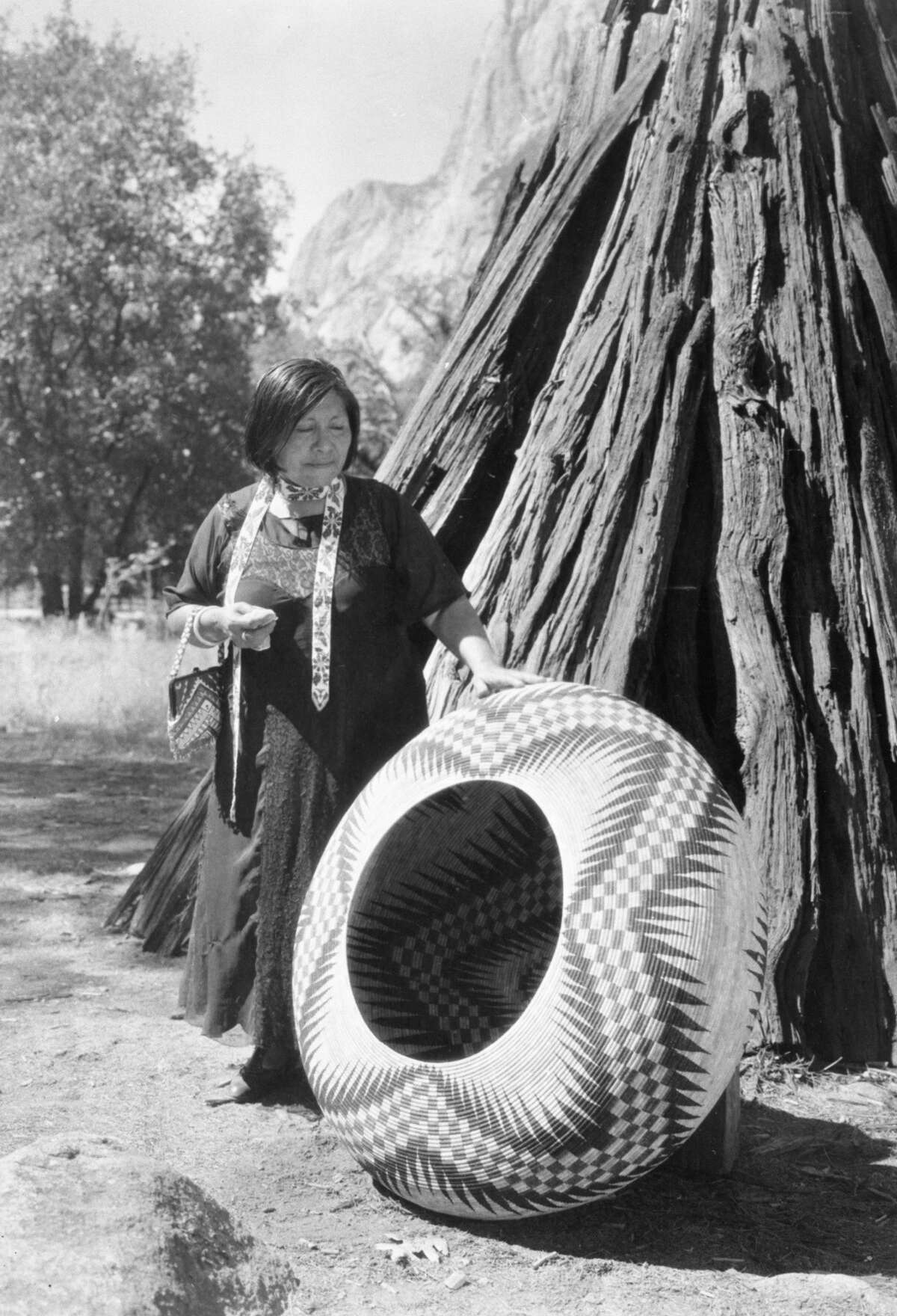 Helen Coats' grandmother Lucy Telles excelled at basket weaving. Her work is displayed in the Yosemite Museum.