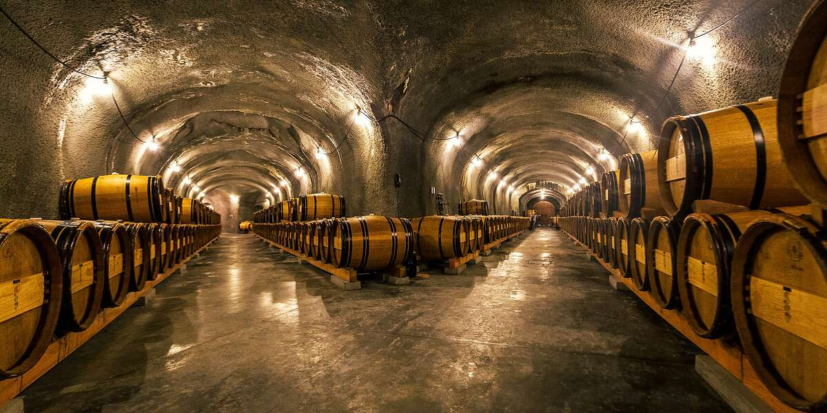 The wine caves at A. Rafanelli winery.
