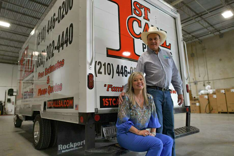 John and Anne Aramendia started 1st Call Plumbing, Heating & Air last year, about two years after he sold the assets of Aramendia Plumbing, Heating & Air. Photo: Billy Calzada /Staff Photographer / `
