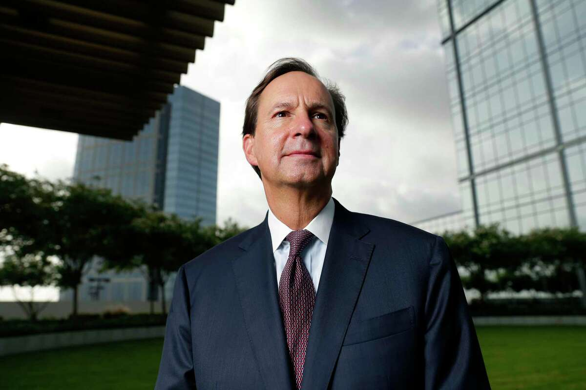 Paul Layne, CEO of the Howard Hughes Corp., at an outside area of the Hackett Tower Thursday, Jul. 2, 2020 in The Woodlands, TX. The company recently acquired the buildings that holds the offices of Occidental Petroleum and Anadarko as tenants.