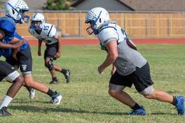 Trinity's Davis Seybert and others run drills 09/22/2020 during practice. Tim Fischer/Reporter-Telegram