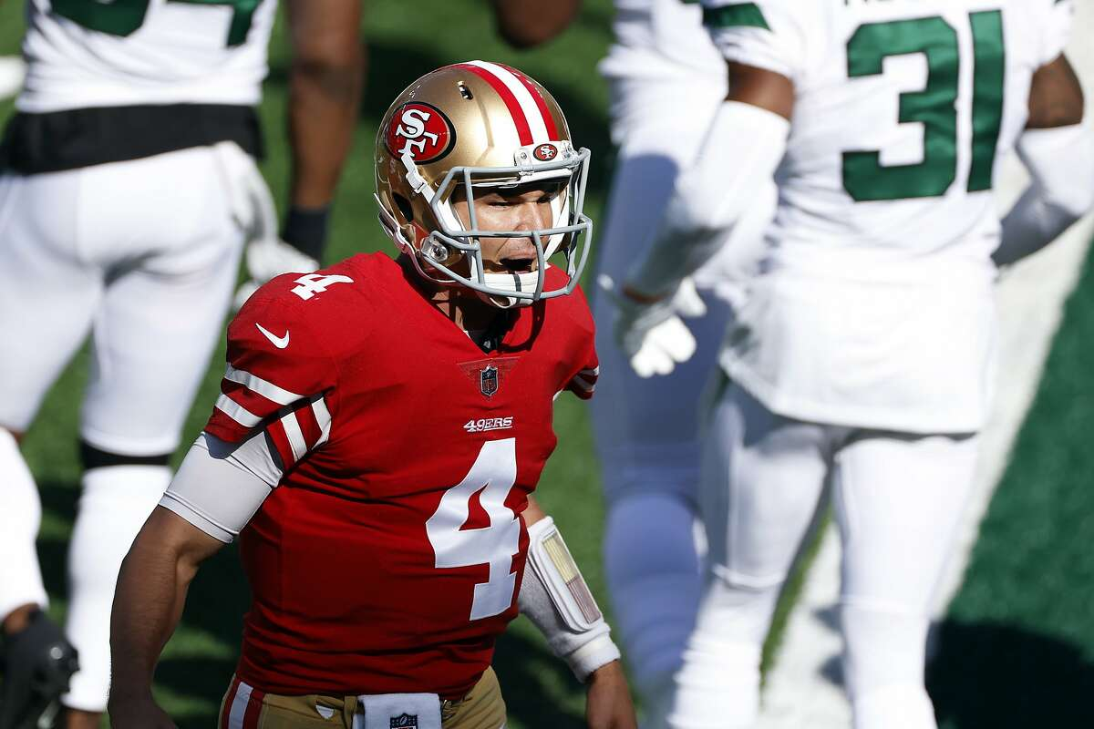San Francisco 49ers quarterback Nick Mullens, who replaced the injured Jimmy Garoppolo in last Sunday's win over the New York Jets, figures to start this Sunday against the Giants.