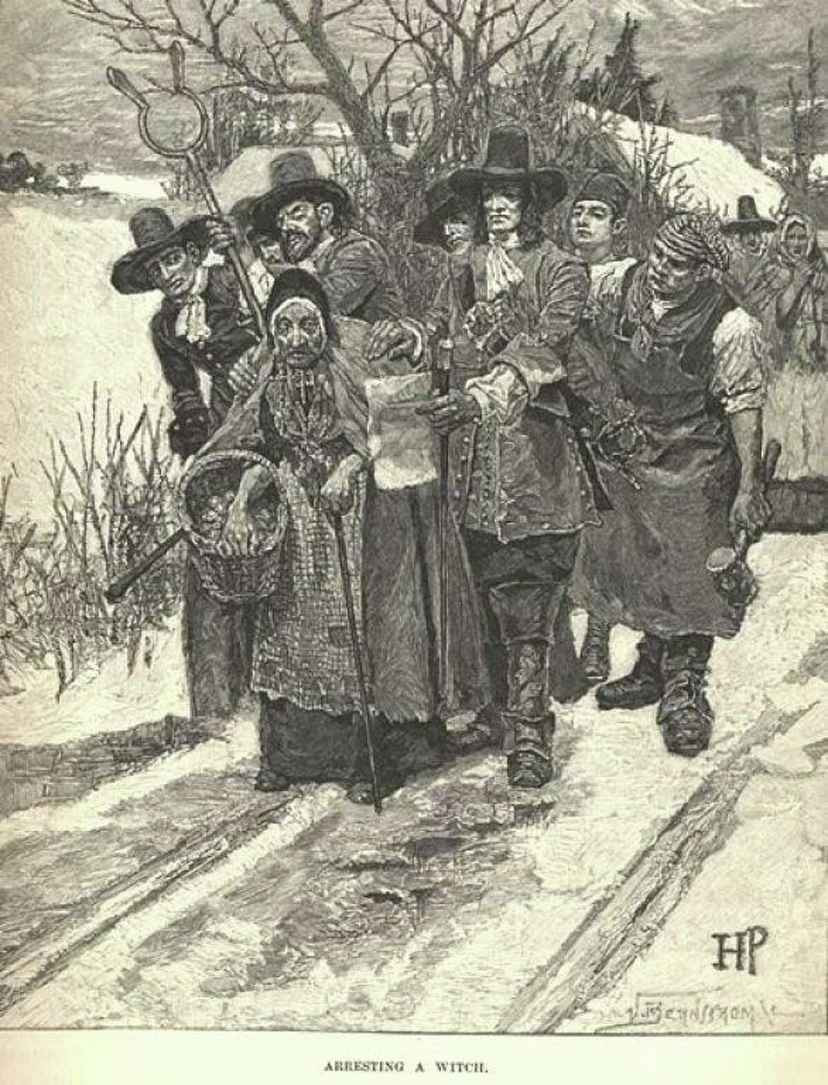 An illustration - Arrest of a Witch