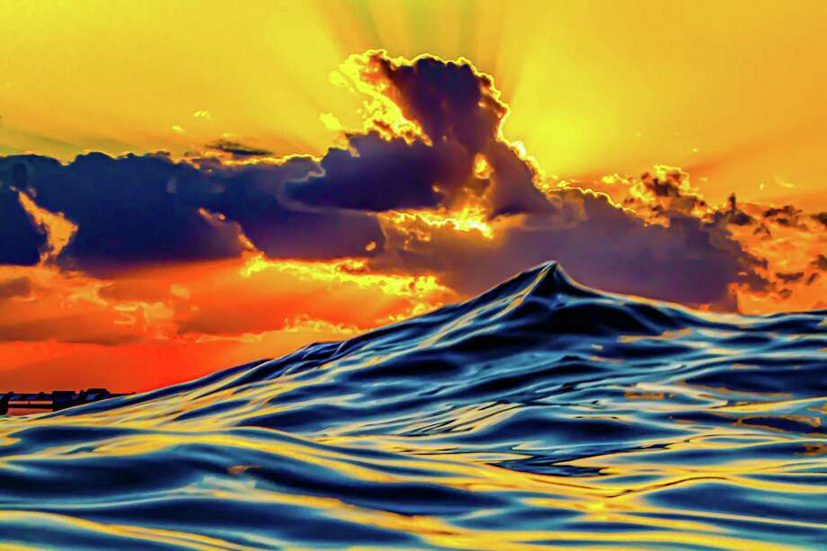 """Spectrum Gallery and Artisan's Store presents The Autumn Arts Festival Exhibit, showcasing select work by participating artists in the 2020 Autumn Arts Festival on the Madison Town Green. The seven-week gallery exhibit opens to the public Sept. 18 and runs through Nov. 8. Above, Scott Camphausen, """"Sunset Pinnacle"""", digital photograph on aluminum. Photo: Spectrum Gallery / Contributed Photo /"""